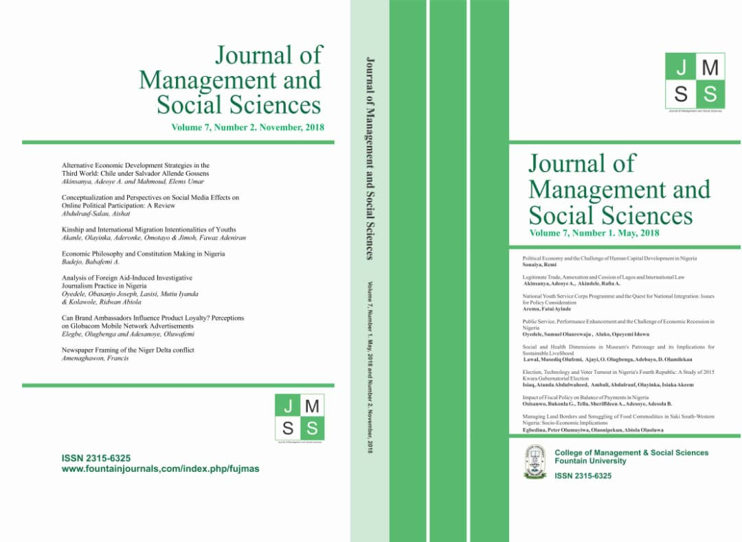 View Vol. 7 No. 2 (2018): Journal of Management and Social Sciences